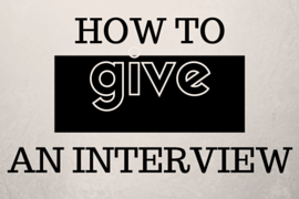 Giving an interview